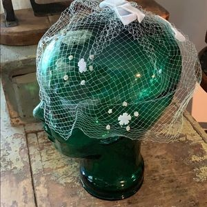 Vintage netted head piece hat